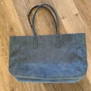 Saks Fifth Ave Blue Tote Bag